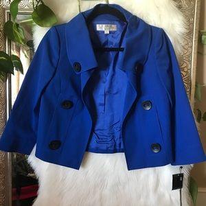 NWT 2p Tahari Blue Blazer